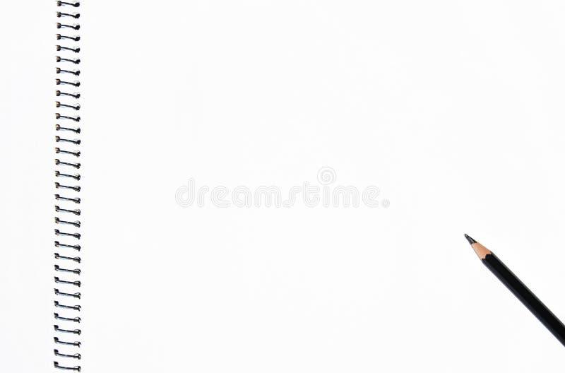 Leeg spiraalvormig notitieboekje stock fotografie