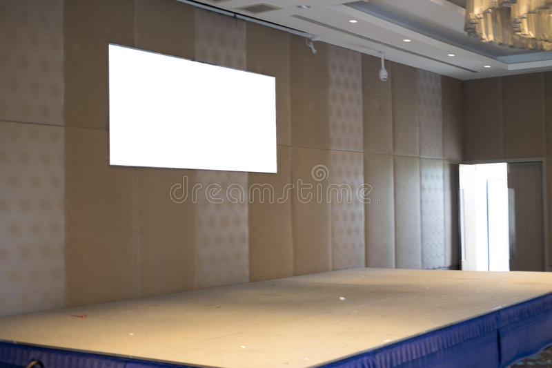 Leeg stadiumtheater in hotel royalty-vrije stock fotografie