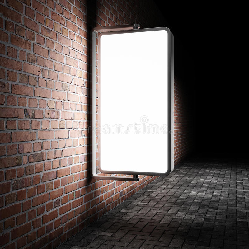 Leeg straat reclameaanplakbord stock foto's