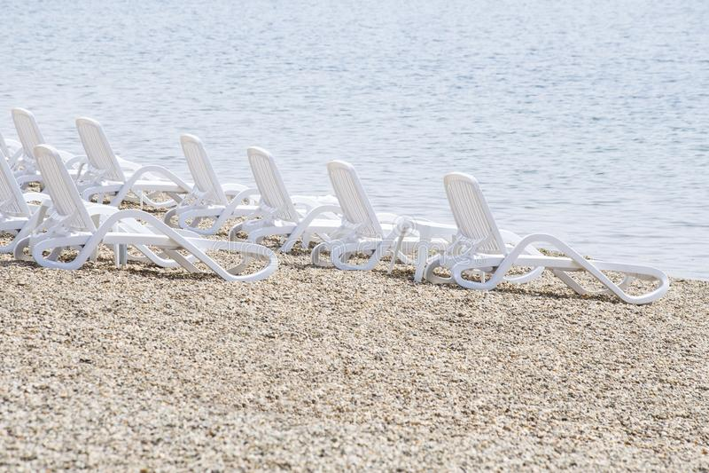 Leeg strand stock afbeelding