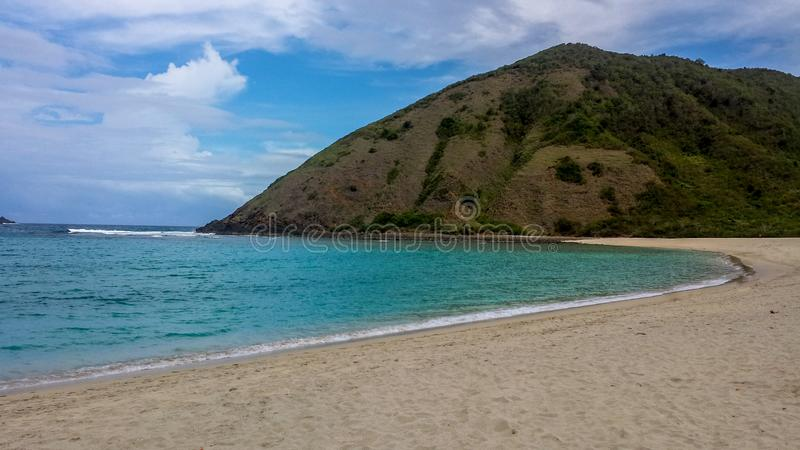 Leeg Strand op Lombok royalty-vrije stock foto's