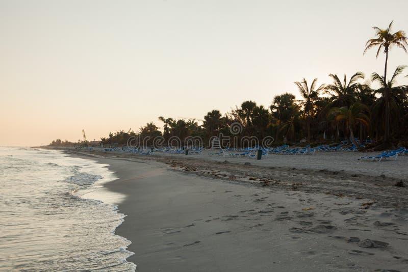 Leeg strand in Varadero Cuba stock foto