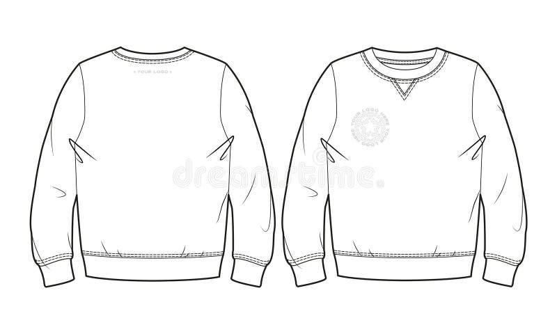 Leeg sweatshirt stock illustratie