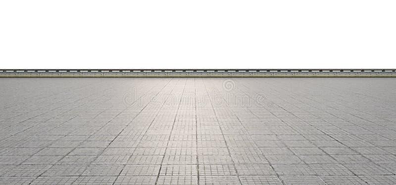 Leeg terras op witte achtergrond royalty-vrije stock foto