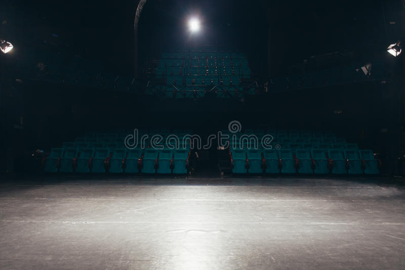 Leeg theaterstadium stock foto's