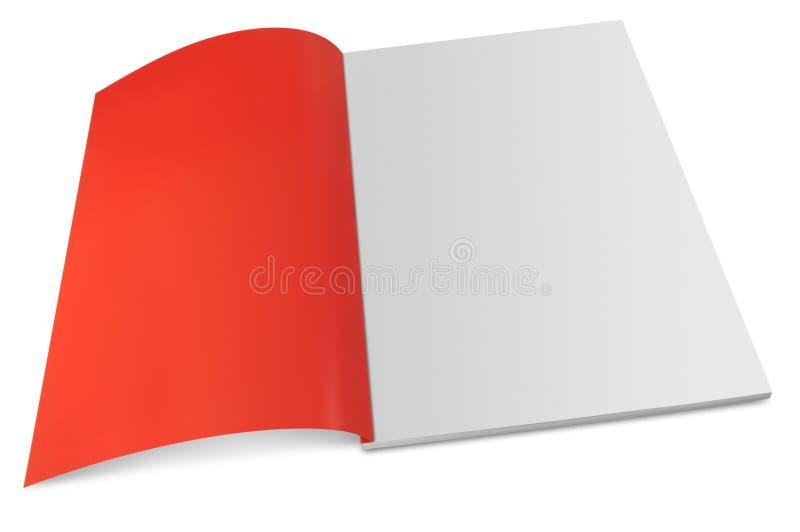 Leeg tijdschrift met open pagina stock afbeelding