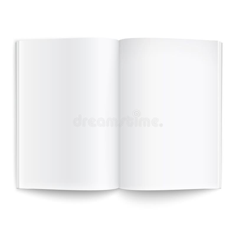 Leeg tijdschriftmalplaatje met zachte schaduwen. vector illustratie