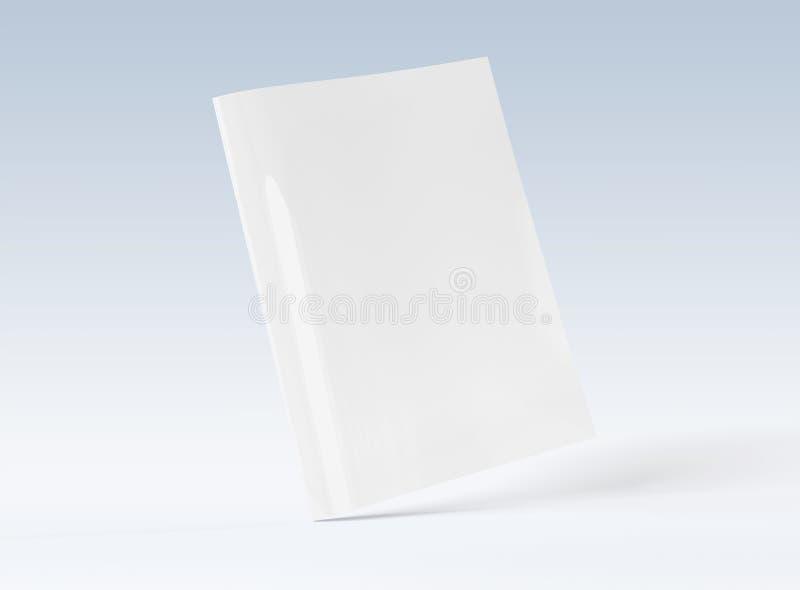 Leeg A4-tijdschriftmodel bij het witte 3D teruggeven royalty-vrije illustratie