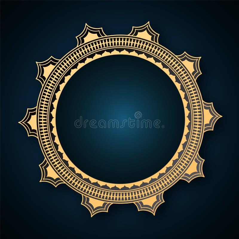 Leeg uitstekend cirkeldiekader voor uw bericht wordt gegeven vector illustratie