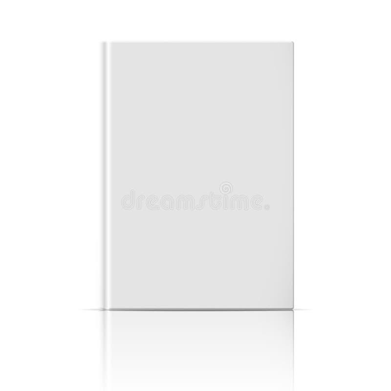 Leeg verticaal boekmalplaatje. vector illustratie