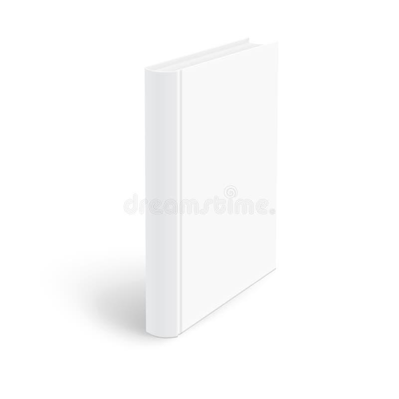 Leeg verticaal boekmalplaatje. stock illustratie