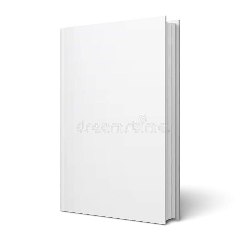 Leeg verticaal boekmalplaatje. royalty-vrije illustratie