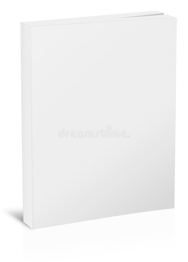 Leeg verticaal boekmalplaatje vector illustratie