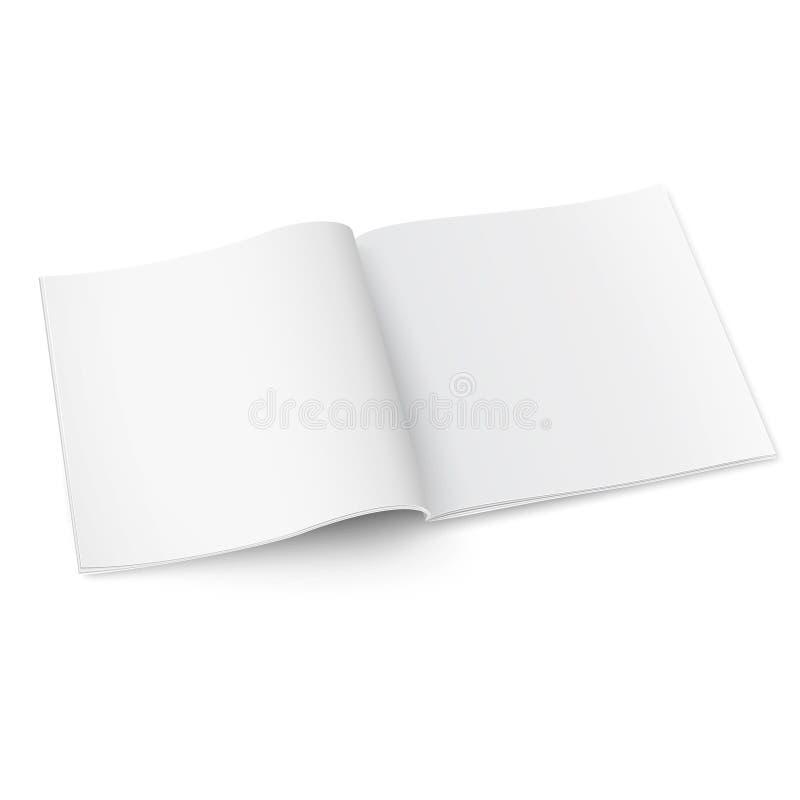 Leeg vierkant tijdschriftmalplaatje met zachte schaduwen vector illustratie