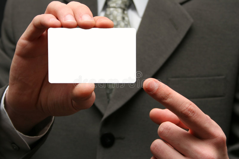 Leeg visitekaartje royalty-vrije stock afbeeldingen