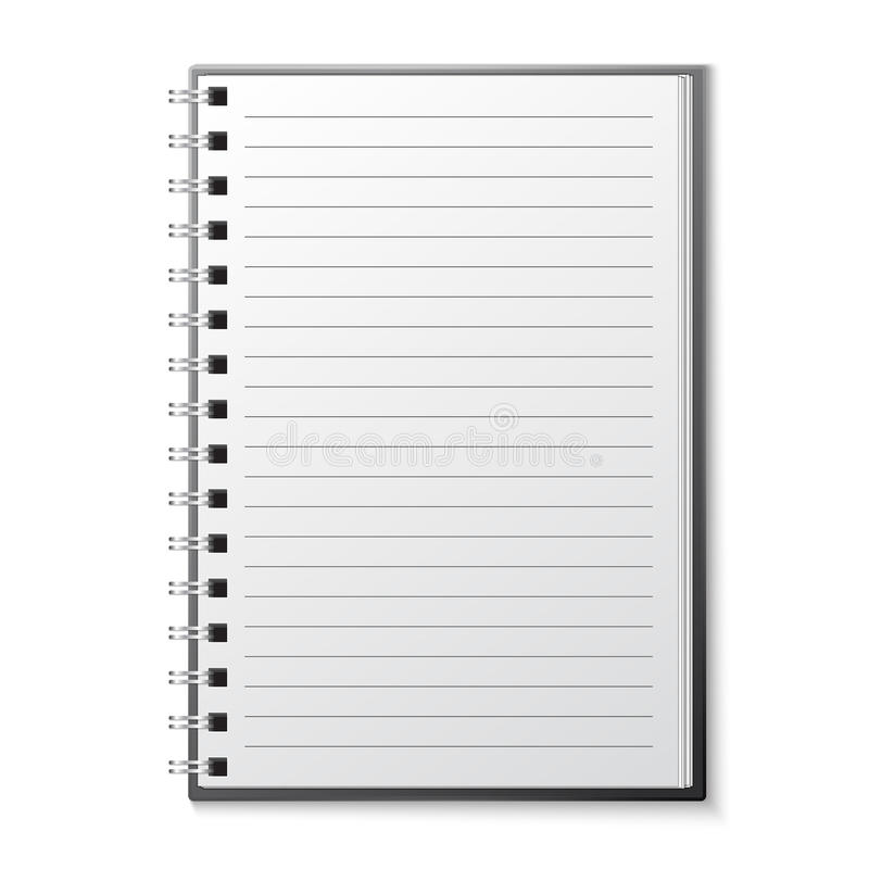 Leeg voorbeeldenboekmalplaatje stock illustratie