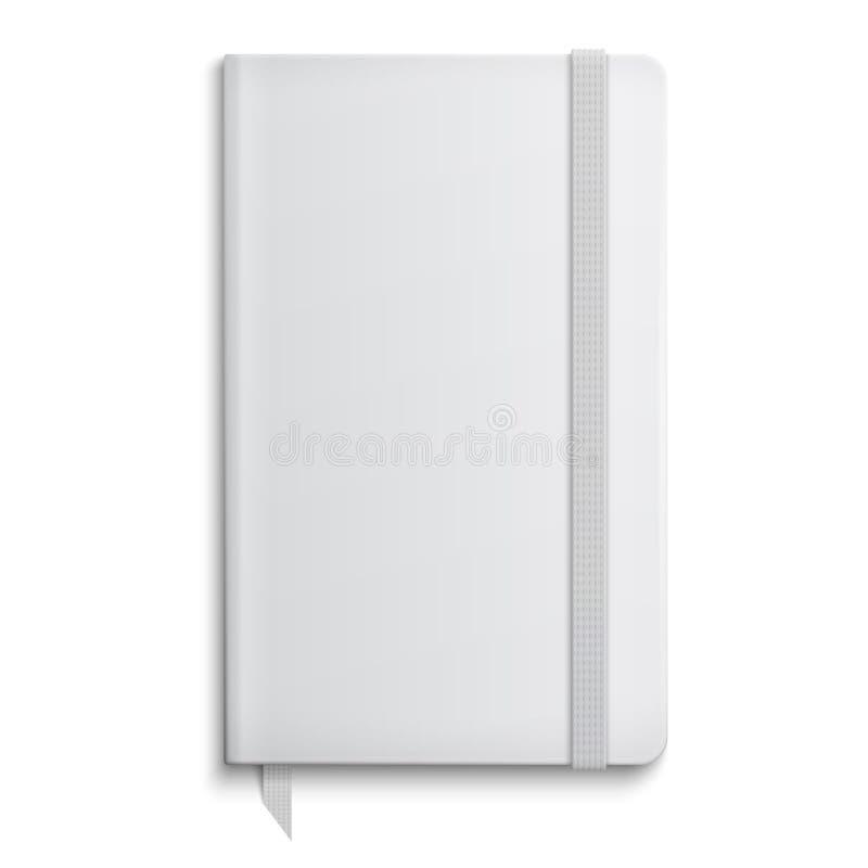 Leeg voorbeeldenboekmalplaatje met elastiekje. royalty-vrije illustratie