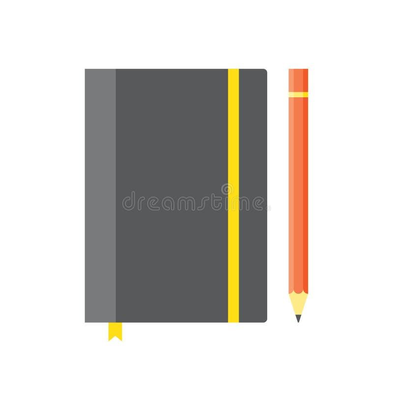 Leeg voorbeeldenboekmalplaatje met elastiekje en referentie royalty-vrije illustratie