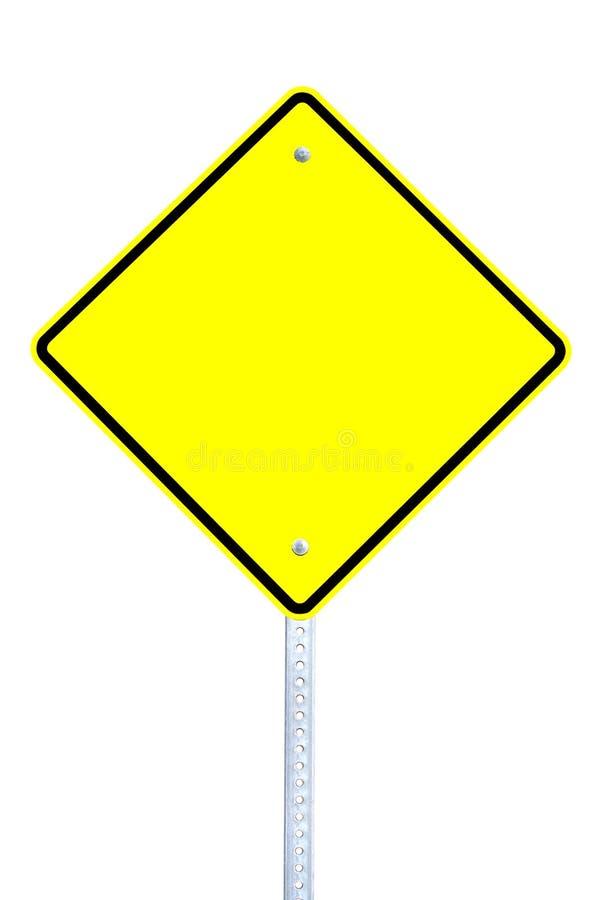 Leeg waarschuwingssein stock afbeeldingen