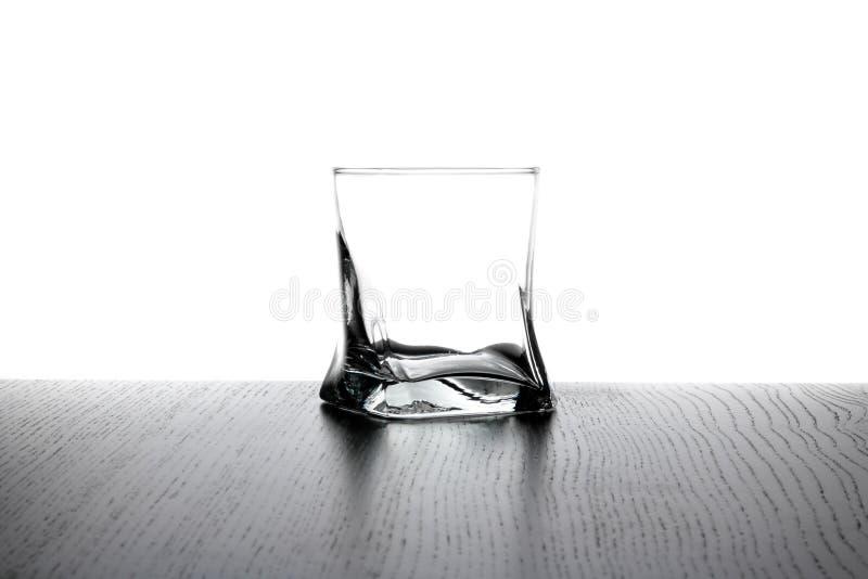 Leeg whiskyglas royalty-vrije stock afbeeldingen