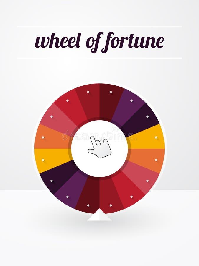 Leeg wiel van fortuin vector illustratie