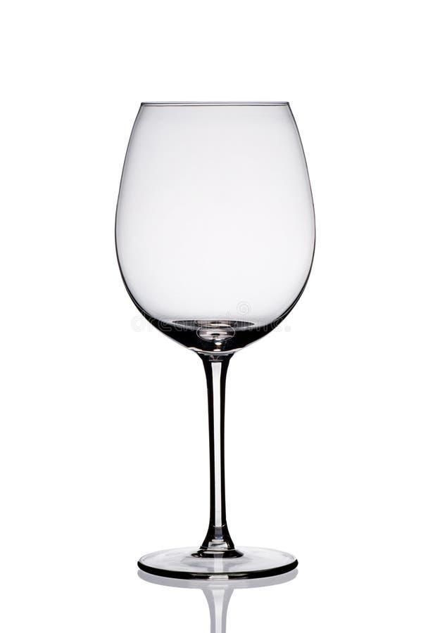 Leeg wijnglas. stock afbeelding