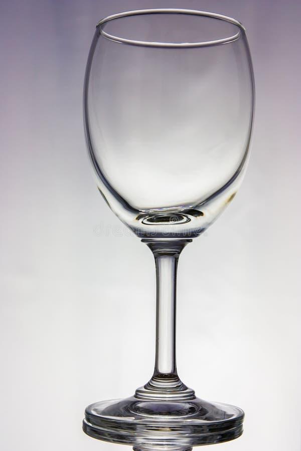 Leeg wijnglas royalty-vrije stock fotografie