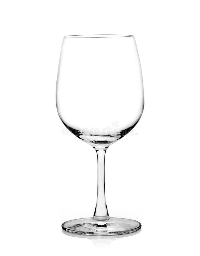 Leeg wijnglas op een witte achtergrond royalty-vrije stock foto's