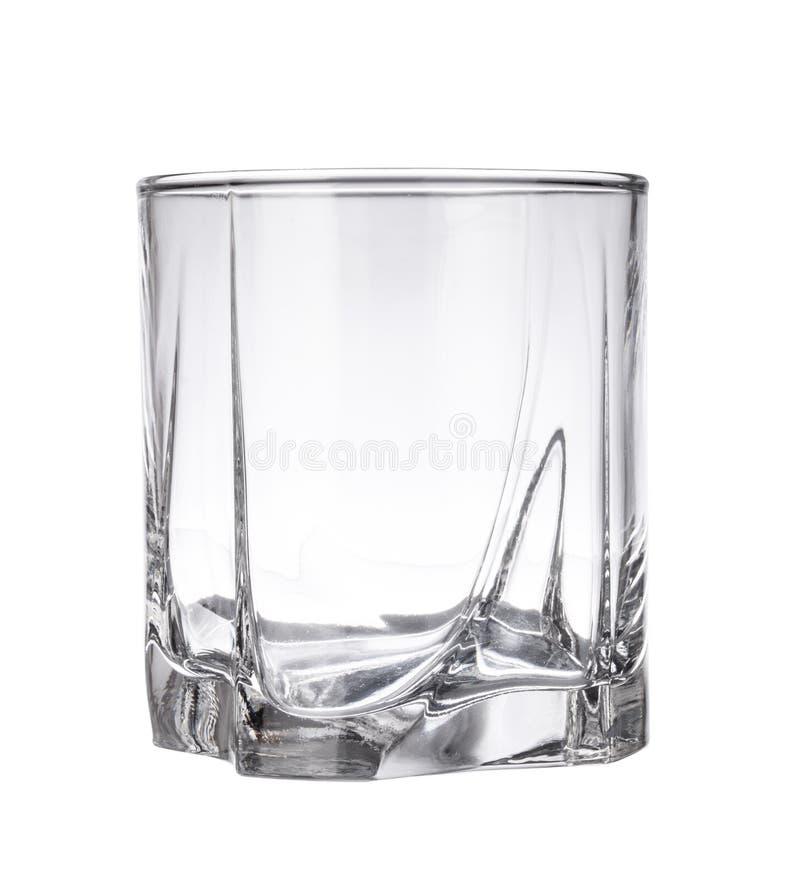 Leeg wiskyglas royalty-vrije stock foto