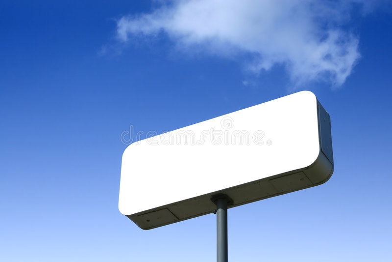 Leeg wit aanplakbord stock afbeelding