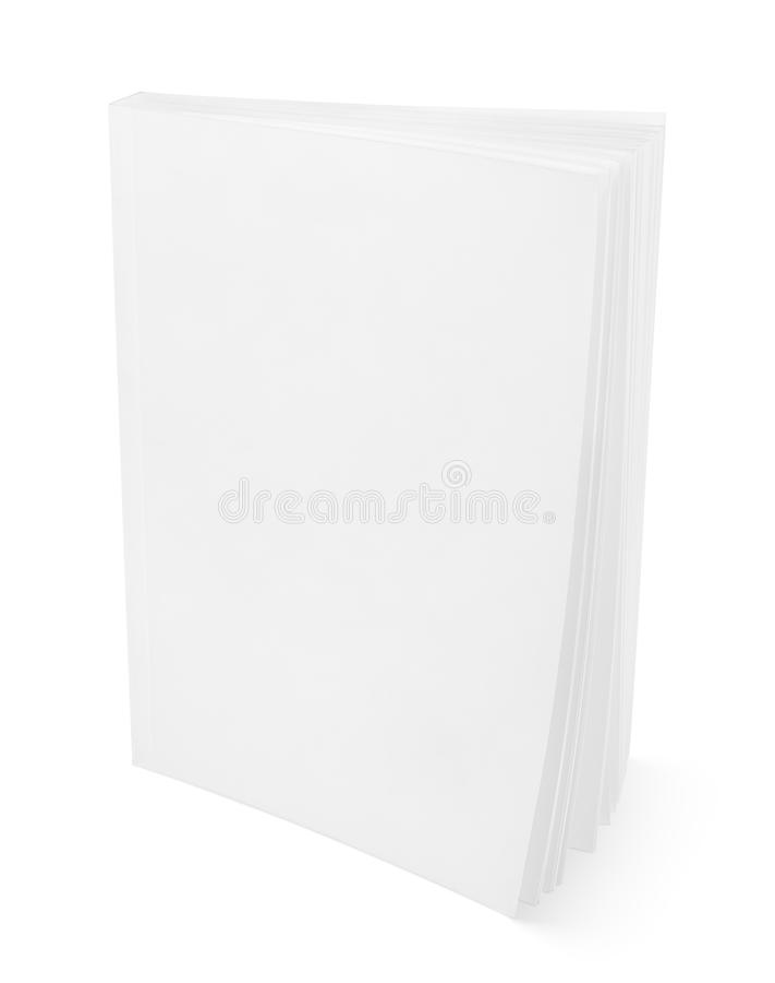 Leeg wit boek op wit stock afbeelding