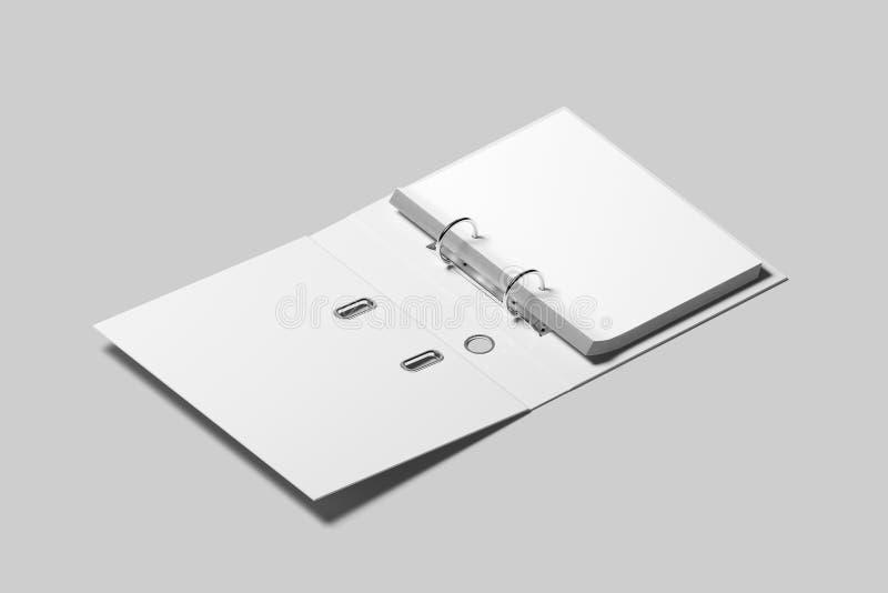 Leeg wit geopend het ontwerpmodel van het ringsbindmiddel stock fotografie