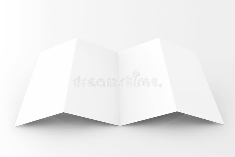 Leeg wit gevouwen document vector illustratie