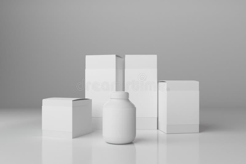 Leeg wit pakket royalty-vrije illustratie