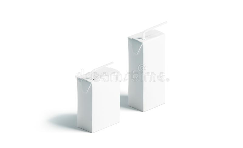 Leeg wit sappak met de reeks van het stromodel, geïsoleerde tribune vector illustratie