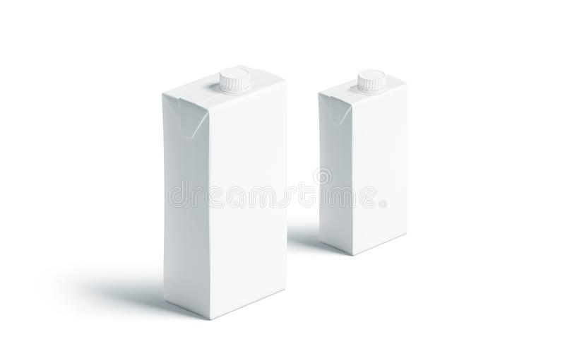 Leeg wit sappak met dekselmodel, kleine en grote reeks vector illustratie