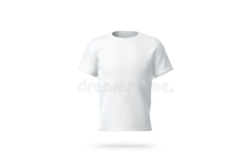 Leeg wit schoon t-shirtmodel, geïsoleerd, vooraanzicht, royalty-vrije stock foto's