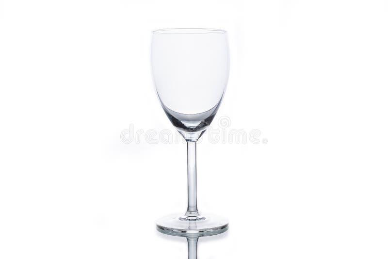 Leeg wit wijnglas stock fotografie