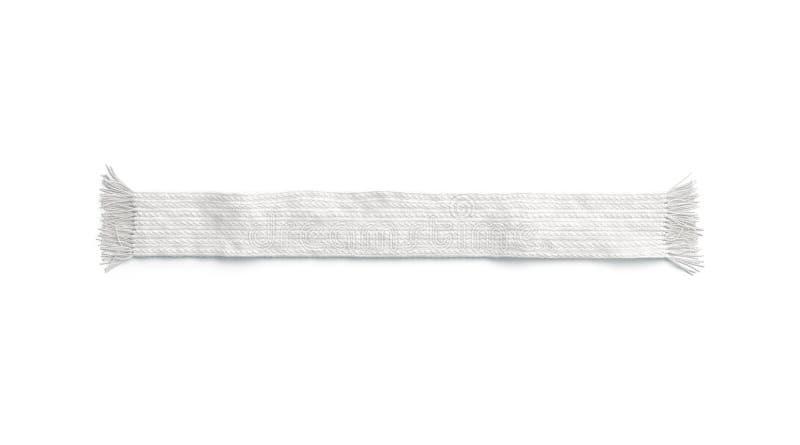 Leeg wit wol gebreid geïsoleerd sjaalmodel, stock illustratie