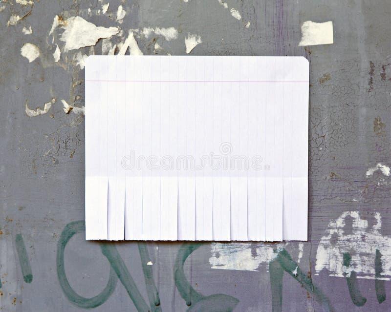 Leeg Witboek met scheur van lusjes stock afbeeldingen