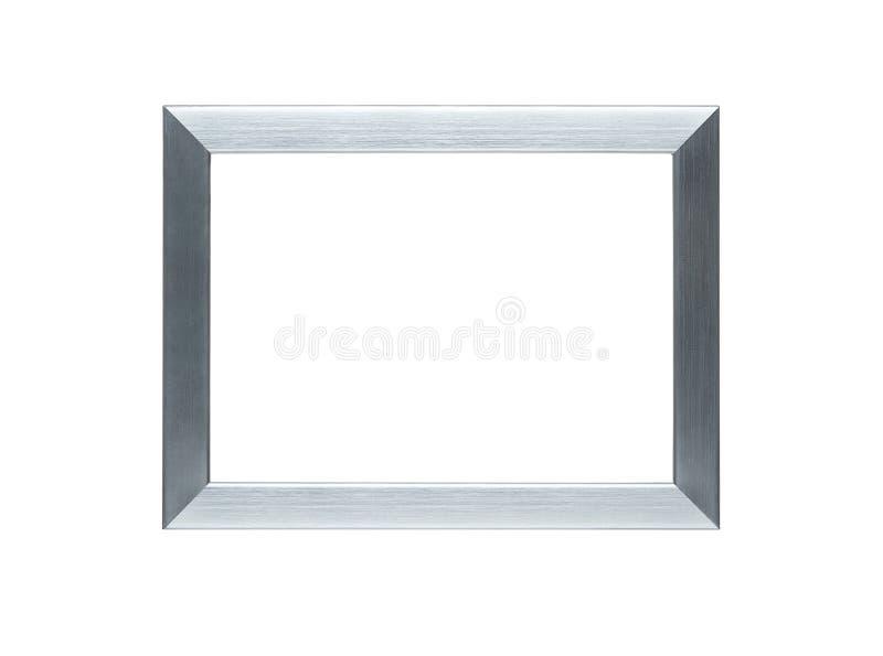 Leeg zilveren frame met het knippen van weg stock foto