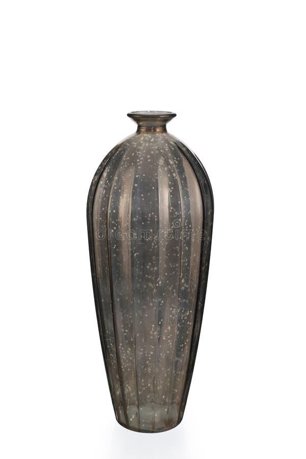 Leeg Zilveren Mercury Glass Vase royalty-vrije stock afbeeldingen