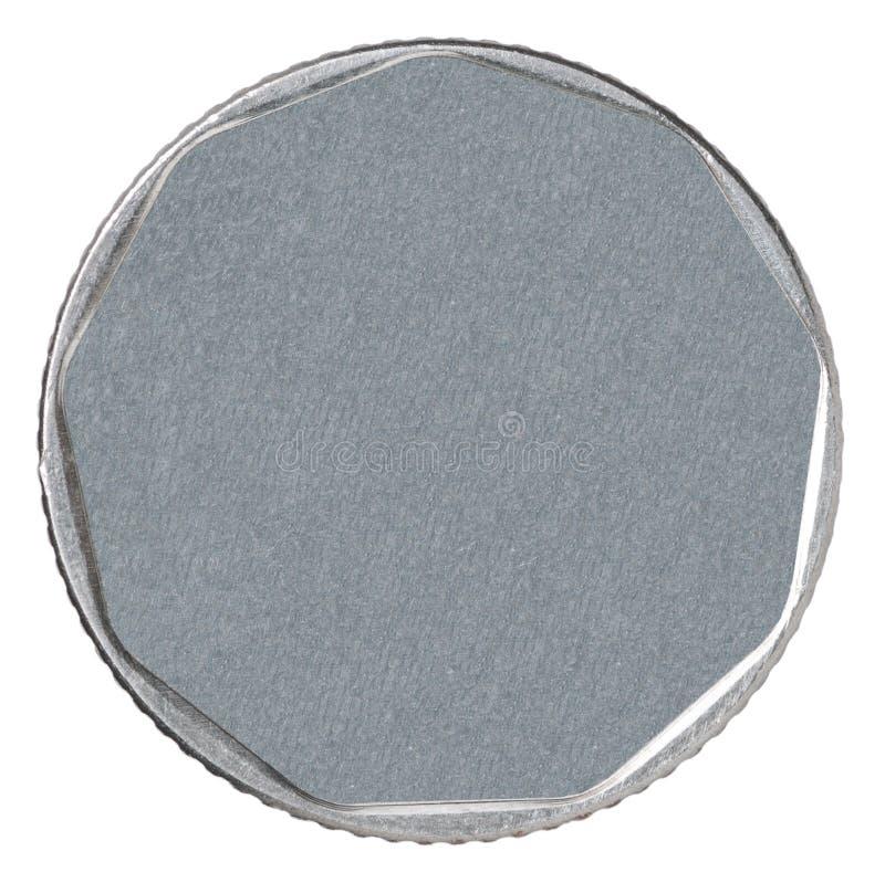 Leeg zilveren muntstuk stock afbeelding
