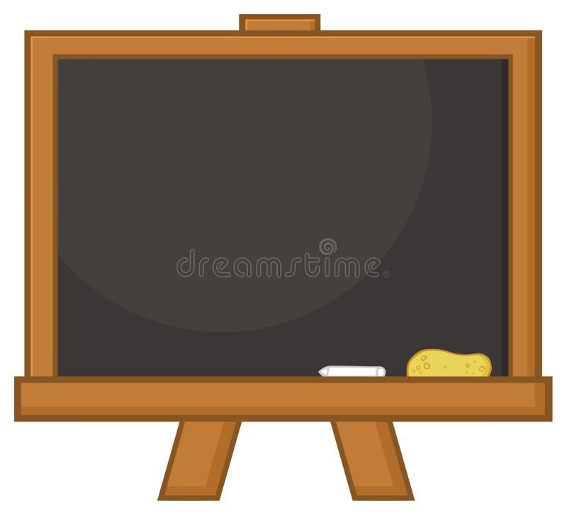 Leeg Zwart het Beeldverhaalontwerp van het Klaslokaalbord vector illustratie