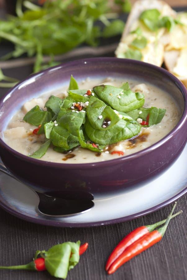 Leek and potato soup royalty free stock image