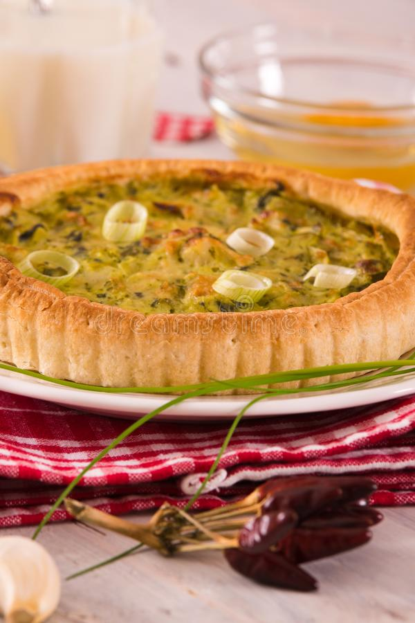 Leek quiche. royalty free stock images