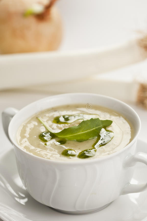 Download Leek soup stock image. Image of potato, spoon, leek, restaurant - 23027731