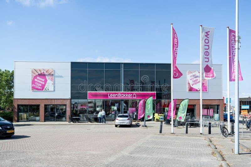 Leen Bakker-Möbelgeschäft in Leiderdorp, die Niederlande lizenzfreies stockfoto
