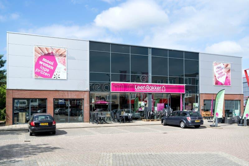 Leen Bakker-Möbelgeschäft in Leiderdorp, die Niederlande lizenzfreies stockbild