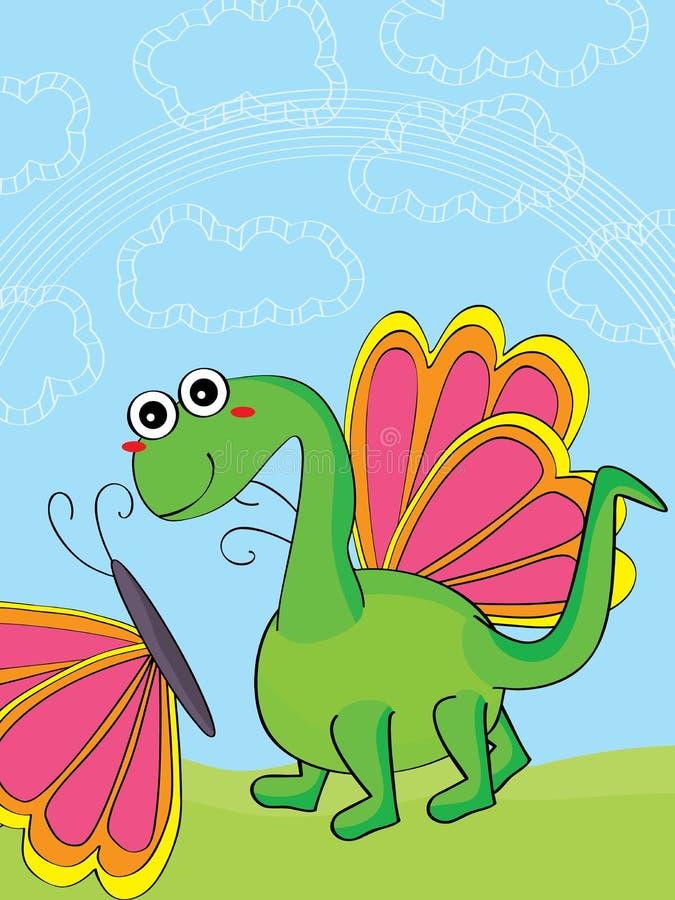 Leen uw vleugels maken me vlieg royalty-vrije illustratie